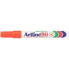 Alkoholos filc toll 2 - 5 mm vágott végű  - Narancssárga - Újratölthető és vízálló - Artline EK-90 - Permanent Marker