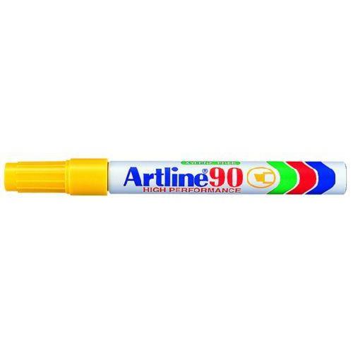 3e8b90985812 Alkoholos filc toll 2 - 5 mm vágott végű - Sárga - Újratölthető és vízálló  - Artline EK-90 - Permanent Marker
