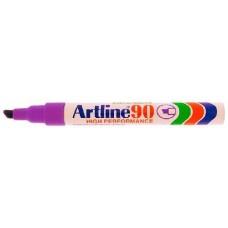 Alkoholos filc toll 2 - 5 mm vágott végű  - Bíbor vörös lila - Újratölthető és vízálló - Artline EK-90 - Permanent Marker