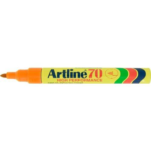 3d5d6d95e00b Újratölthető, vízálló, 1 - 2 mm csúcsos alkoholos filc toll - Narancssárga  - Artline EK-70 - Permanent Marker