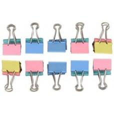 Iratcsipesz binder clip 19mm -es színes - Iratcsipeszek - Binder kapocs