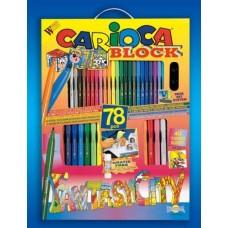 Most a szállítás ingyenes ! - 78 darabos kirakós, kifestő és színező készlet Carioca Fantasy City