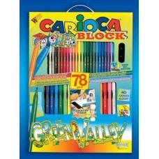 Most a szállítás ingyenes ! - Kifestő és színező készlet 78 darabos Carioca Block Green Valley