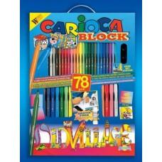 Most a szállítás ingyenes !  - Kifestő és színező készlet 78 darabos Carioca Block Old Village