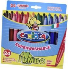 Carioca Jumbo vastag filctoll készlet 24 színű - Lemosható