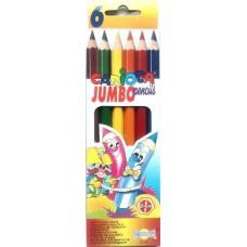 6 darabos, vastag, Carioca színes ceruza készlet Jumbo