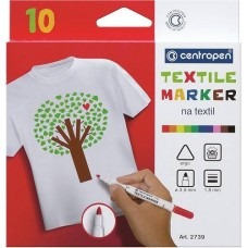 Textilfilc 10 darabos készlet Centropen 2739 textil filctoll