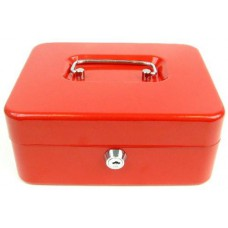 Pénzkazetta és aprópénz tartó - Piros - Kicsi méret - Zárható doboz fémkazetta pénz kazetta - Pénzkazetták - 8878S