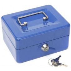 Pénzkazetta és aprópénztartó - Kék - Legkisebb méret - Zárható fémkazetta pénz kazetta - Pénzkazetták - 8878XS