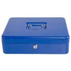 Aprópénztartó pénz kazetta - Kék - Nagy méretű - Zárható fémkazetta pénzkazetta - Pénzkazetták