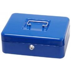 Pénzkazetta, érmetartóval - Kék - Közepes méretű - Zárható lemez fémkazetta pénz kazetta - Pénzkazetták - 8878M
