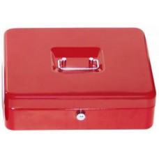 Pénz kazetta és aprópénztartó - Piros - Nagy méretű - Zárható fémkazetta lemez pénzkazetta - Pénzkazetták - 8878L