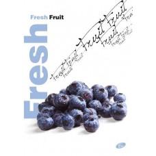 Füzet A4 gyümölcsmintás 40 lap vonalas - Áfonya - Elisa