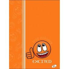 Füzet A4 mintás 40 lap kockás - Smile Excited - Elisa