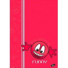 Füzet A4 mintás 40 lap kockás - Smile Funny - Elisa