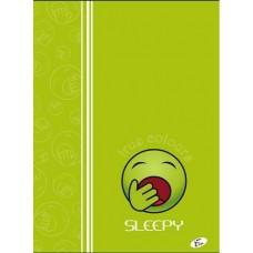Füzet A4 mintás 40 lap kockás - Smile Sleepy - Elisa