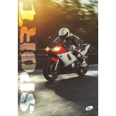 Füzet A4 mintás 40 lap vonalas - Sport motoros - Elisa