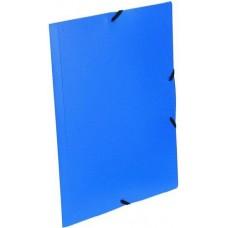 Gumis irattartó mappa - Kék - Műanyag (PP) iratgyűjtő A4 mappa