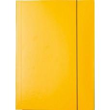 Irattartó mappa gumis - Sárga - Iratgyűjtő A4 mappa - Fornax Glossy 400 gr