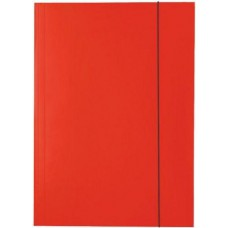 Irattartó mappa gumis - Piros - Iratgyűjtő A4 mappa - Fornax Glossy 400 gr