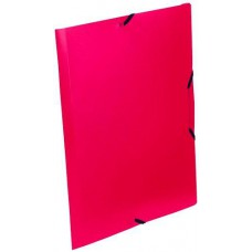 Gumis mappa - Piros - Műanyag (PP) irattartó iratgyűjtő A4 dosszié