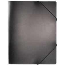 Gumis irattartó A4 mappa - Fekete - Műanyag (PP) iratgyűjtő mappa