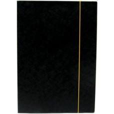 Irattartó mappa gumis - Fekete - Iratgyűjtő A4 mappa - Fornax Glossy 400 gr