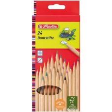 Herlitz 24 darabos színesceruza készlet natúr hársfa