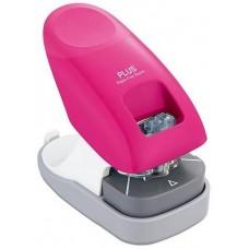 Asztali kapocs nélküli tűzőgép  - Pink - 10 lap - Plus Japan