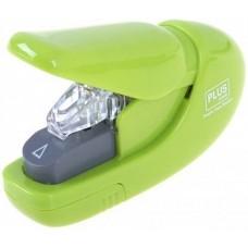 Tűzőgép kapocs nélküli - Világos zöld - 5 lap - Plus Japan