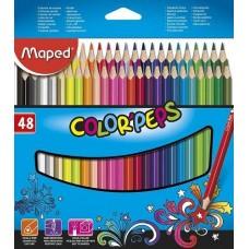 Maped 48 db-os háromszög alakú színes ceruza készlet