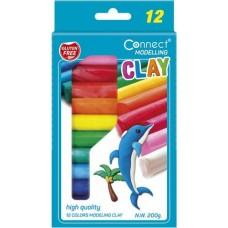 Connect színes gyurma gyerekeknek 12 színű gyurmakészlet - 200 gramm