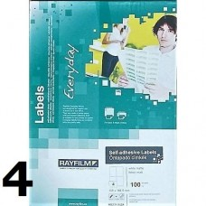 Rayfilm 105 mm x 148,5 mm nyomtatható öntapadós etikett címke A4 méret, 100 íves - Címkék