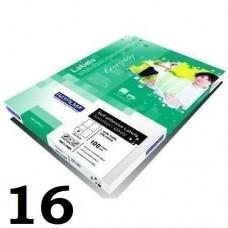 Rayfilm 105 mm x 37 mm nyomtatható öntapadós etikett címke A4 méret, 100 íves - Címkék