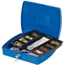 Pénzkazetta és aprópénztartó - Kék - Nagy méretben - Zárható fémkazetta lemez pénz kazetta - Pénzkazetták
