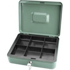 Pénzkazetta 20 cm aprópénztartó - Zöld - Kis méret - Zárható fémkazetta pénz kazetta