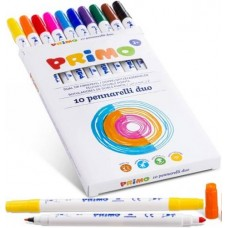 Primo kétvégű filctoll 10 színű készlet kimosható