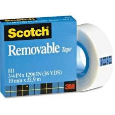 Scotch® Magic™ 811 eltávolítható ragasztószalag 19 mm x 33 m - 3M