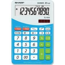 Sharp Elsi Mate EL-M332B-BL asztali számológép 10 számjegyes - Kék - Számológépek