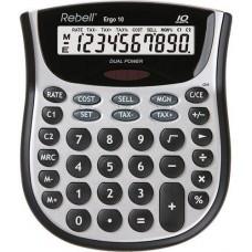 Rebell Ergo 10 számjegyes asztali számológép - Ezüst-Fekete - Számológépek