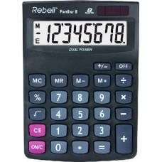 Rebell Panther 8 napelemes asztali számológép 8 számjegyes - 3 év garancia
