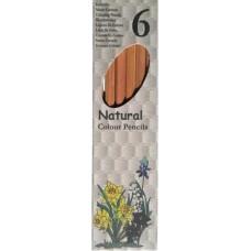 6 darabos hatszögletű, natúr színes ceruza készlet  Diamant Natural