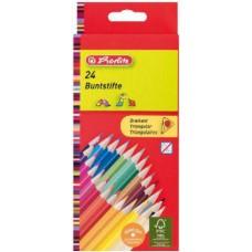 Herlitz színes ceruza 24 darabos készlet háromszög alakú