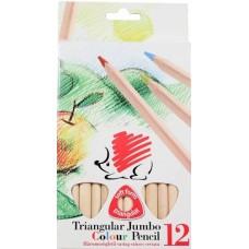 Ico süni 12 darabos vastag háromszög alakú natúr színes ceruza készlet