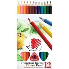 Ico süni 12 darabos vastag háromszög alakú színes ceruza készlet