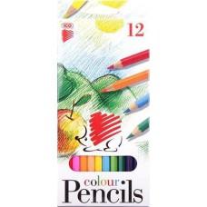 Ico süni színes ceruza 12 darabos hatszögletű, hegyezett lakkozott
