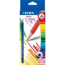 Lyra Osiris 12 darabos háromszög alakú színes ceruza készlet