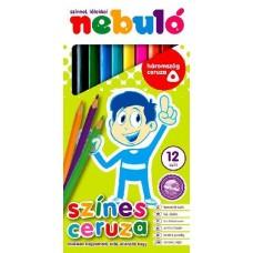 Nebuló háromszög alakú színesceruza készlet 12 színű
