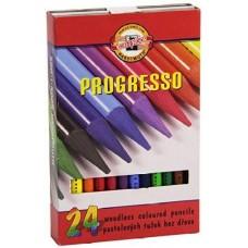 Koh-I-Noor Progresso famentes pasztell ceruza 24 darabos készletben