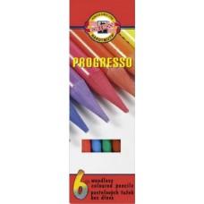Koh-I-Noor Progresso famentes pasztell ceruza 6 darabos készletben